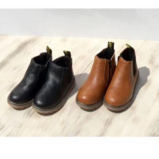 キッズ フェイクレザー ショートブーツ w10282(ブーツ)
