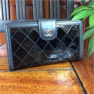 シャネル(CHANEL)のシャネル 二つ折り長財布 ブラック ココマーク 182461(財布)
