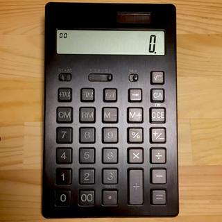 ムジルシリョウヒン(MUJI (無印良品))の無印良品 電卓 黒(その他)