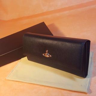 ヴィヴィアンウエストウッド(Vivienne Westwood)の正規品美品★ビビアンウエストウッド★321287 黒長財布★コメント下さい♪(財布)