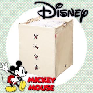 ディズニー(Disney)の新品★ディズニー ミッキー ランドリーボックス(バスケット/かご)