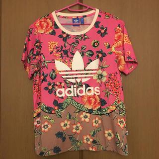 アディダス(adidas)の美品♡アディダス オリジナル ファーム コラボ 花柄 Tシャツ ピンク(Tシャツ(半袖/袖なし))