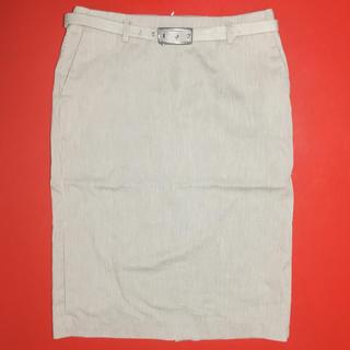 モンクレール(MONCLER)のモンクレール スカート ストライプ MONCLER ベルト付き 上品(ひざ丈スカート)