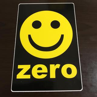 【縦15.3cm横10.2cm】ZERO skateboard ステッカー(ステッカー)
