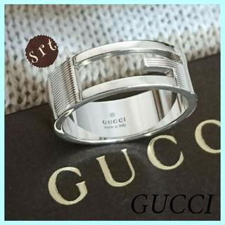 グッチ(Gucci)の希少 最大サイズ 超美品 新品仕上 グッチ ブランデッドG 正規品 25 大きめ(リング(指輪))