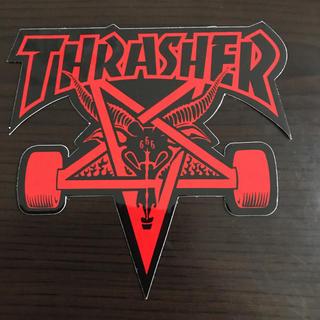 スラッシャー(THRASHER)の【縦9cm横10cm】THRASHER ステッカー(ステッカー)