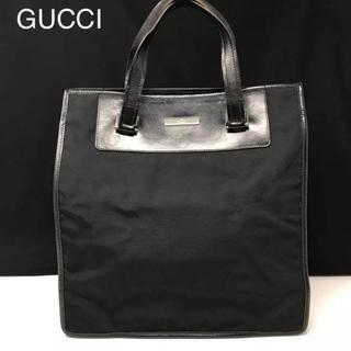 グッチ(Gucci)の正規品 グッチ ナイロン×レザー トートバッグ ブラック(トートバッグ)