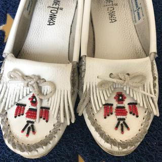 ミネトンカ(Minnetonka)の専用 ミネトンカ♡白レザー(ローファー/革靴)