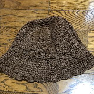 ムジルシリョウヒン(MUJI (無印良品))の無印良品 帽子 麦わら帽子 54 新品(麦わら帽子/ストローハット)