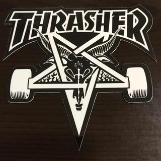 スラッシャー(THRASHER)の【縦10cm横9cm】THRASHER ステッカー(ステッカー)