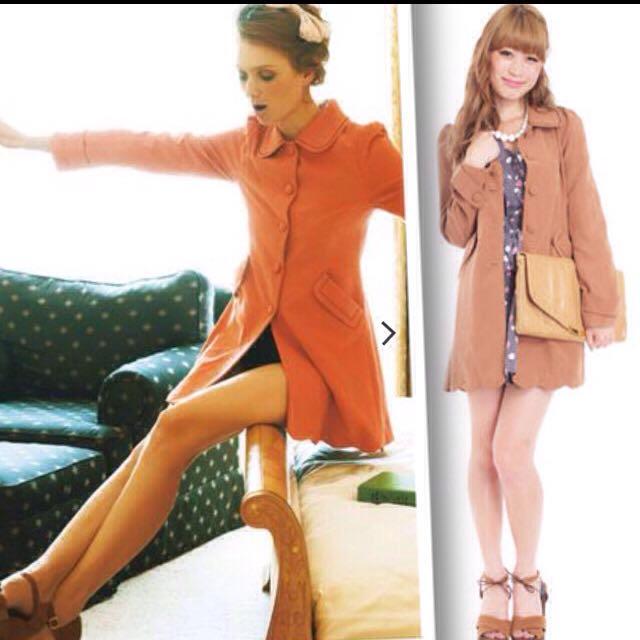 dazzlin(ダズリン)のdazzlin*オレンジコート レディースのジャケット/アウター(トレンチコート)の商品写真