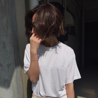 アメリヴィンテージ(Ameri VINTAGE)のAMERI 無地ホワイトTシャツ(Tシャツ(半袖/袖なし))