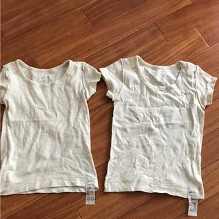 ムジルシリョウヒン(MUJI (無印良品))の美品 無印 肌着 100サイズ 二枚セット(下着)