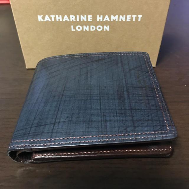 1b329d55529b KATHARINE HAMNETT(キャサリンハムネット)の新品 キャサリンハムネット 二つ折り財布 メンズ
