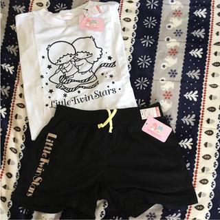 シマムラ(しまむら)のキキララ♡TシャツショーパンセットしまむらLサイズ新品未使用サンリオ(Tシャツ(半袖/袖なし))