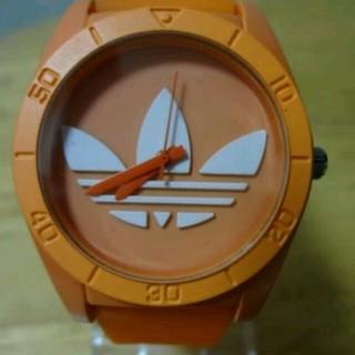 アディダス(adidas)のアディダス 時計 オレンジ 白 橙(腕時計)