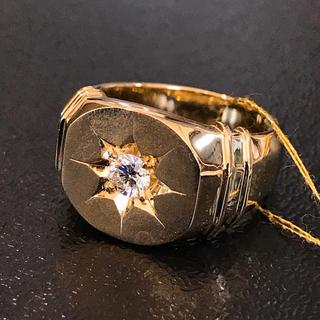 K18 18金 天然ダイヤモンド リング メンズ ジュエリー 指輪(リング(指輪))