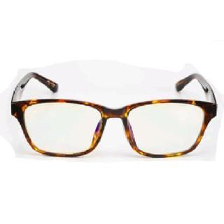 新品 送料込み べっ甲柄 デザイン 伊達メガネ ダテ眼鏡 鼈甲縁 お洒落 めがね(サングラス/メガネ)
