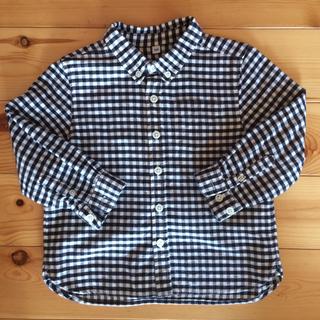 ムジルシリョウヒン(MUJI (無印良品))の無印良品 キッズ ギンガムチェックボタンダウンシャツ 100cm(ブラウス)