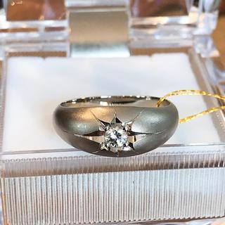 Pt850 プラチナ850 天然ダイヤモンド リング 一粒ダイヤ(リング(指輪))