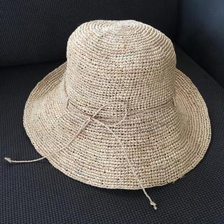 ムジルシリョウヒン(MUJI (無印良品))のlove&peace様専用◎無印良品 ラフィア帽子  57.5cm(麦わら帽子/ストローハット)