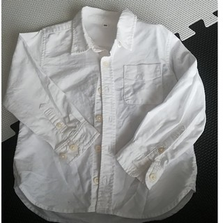 MUJI (無印良品) - 無印 長袖白シャツ