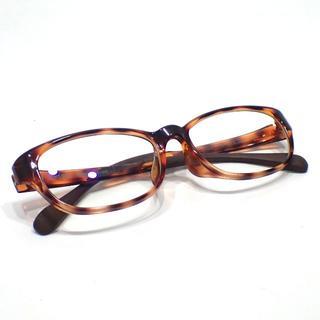 ジンズ(JINS)のA585 中古 JINS ジンズ 鼈甲柄 べっこう メガネ(サングラス/メガネ)