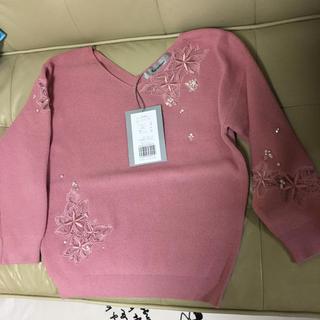 リランドチュール(Rirandture)のリランドチュール  ♡  透け 刺繍 ニット(ニット/セーター)