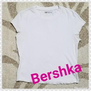 ベルシュカ(Bershka)のBershkaリブ半袖Tシャツカットソー(カットソー(半袖/袖なし))