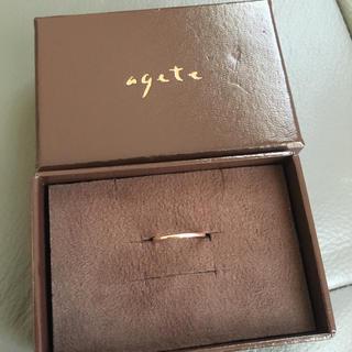 アガット(agete)のagete ピンキーリング k10 ゴールド 5号 アガット(リング(指輪))