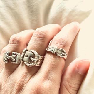 エルメス(Hermes)の✴︎ HERMES✴︎エルメス ベルト リング  51 925シルバー(リング(指輪))