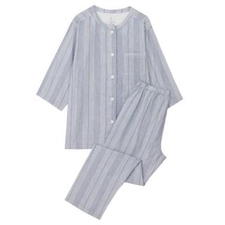 ムジルシリョウヒン(MUJI (無印良品))の脇に縫い目のない細番手二重ガーゼ七分袖パジャマ(パジャマ)