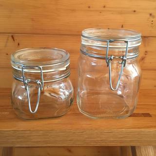 ムジルシリョウヒン(MUJI (無印良品))のかん様専用です❣️無印良品 ソーダガラス密閉ビン2個セット❣️(収納/キッチン雑貨)