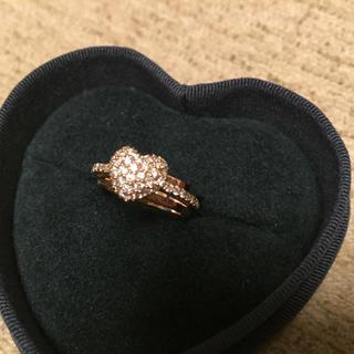 ポンテヴェキオ(PonteVecchio)のポンテヴェキオK18ピンクゴールドダイヤモンドハートリング8号(リング(指輪))