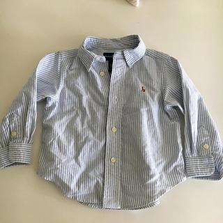 ラルフローレン(Ralph Lauren)のラルフローレン  キッズ ストライプシャツ 18m 美品(Tシャツ/カットソー)