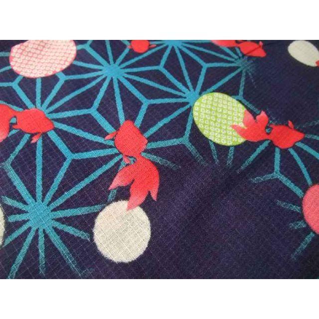 7c012322cfe45 Xmiss - 浴衣 子供 ブランド浴衣 キスミス 120サイズ 7-8才用 紺色 yk998 ...