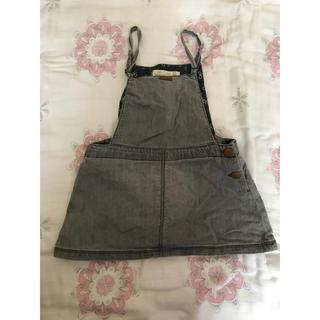 ザラキッズ(ZARA KIDS)のZARA  Baby ブラックデニムジャンパースカート(ワンピース)