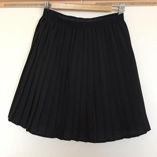 ローリーズファーム(LOWRYS FARM)の黒プリーツスカート(ミニスカート)