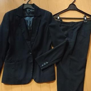 ジーユー(GU)の黒 パンツスーツ 上下(スーツ)