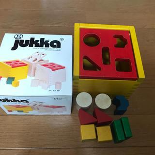 ボーネルンド(BorneLund)のjukka 積み木  カラー ユシラ社 知育玩具 木製 フィンランド(積み木/ブロック)
