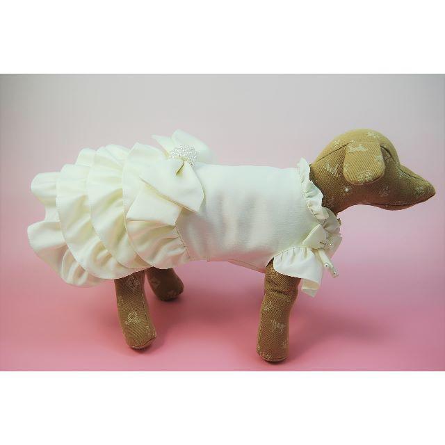 職人が作る小型犬のウエディングドレス リングドックやわんちゃん自身の結婚式に♡② その他のペット用品(犬)の商品写真
