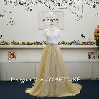 二次会ウエディングドレス セパレート ゴールドカラーチュール(ウェディングドレス)