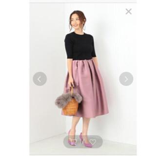 デミルクスビームス(Demi-Luxe BEAMS)のDemi-Luxe BEAMSシルクタックスカート(ひざ丈スカート)