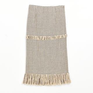 ルシェルブルー(LE CIEL BLEU)のルシェルブルー フリンジタイトスカート(ひざ丈スカート)