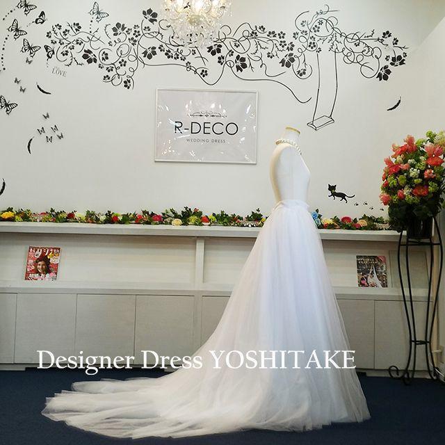 二次会ウエディングドレス セパレート 白カラーチュール レディースのフォーマル/ドレス(ウェディングドレス)の商品写真