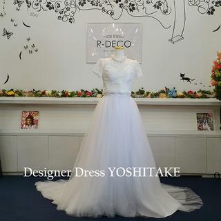二次会ウエディングドレス セパレート 白カラーチュール(ウェディングドレス)