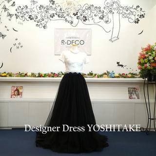 二次会ウエディングドレス セパレート 黒カラーチュール(ウェディングドレス)