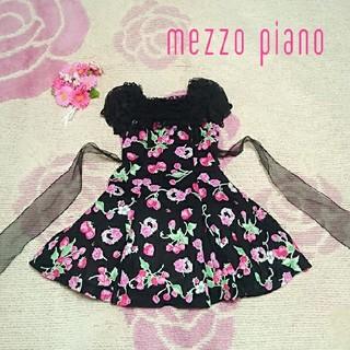 メゾピアノ(mezzo piano)の♡898♡メゾピアノ♡いちご☆チェリー♪♡ワンピース♪♡120cm♡(ワンピース)