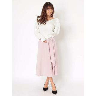セシルマクビー(CECIL McBEE)の新品 セシルマクビー スカート見えワイドパンツ ピンク(カジュアルパンツ)