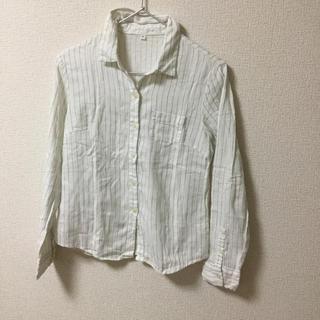 ムジルシリョウヒン(MUJI (無印良品))の無印良品☆ブルーストライプシャツ(シャツ/ブラウス(長袖/七分))